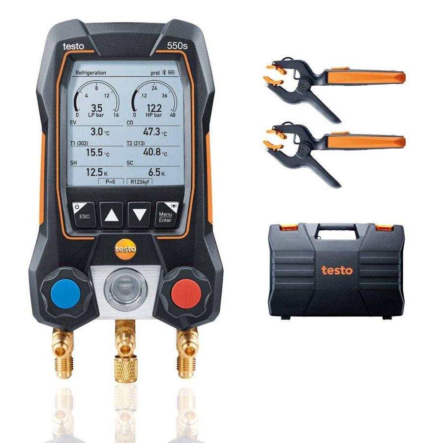 Testo 550s Bluetooth manifolda Smart komplekts 0564 5502