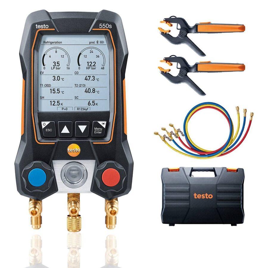 Testo 550s Bluetooth manifolda Smart kompl. ar šļūtenēm 0564 5503
