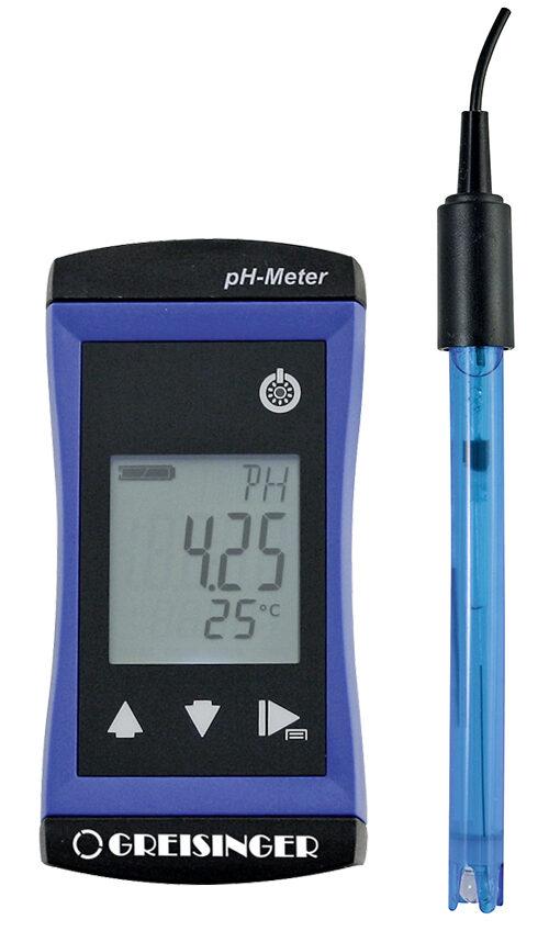 Greisinger G 1500 pH metrs ar GE 114 WD elektrodu