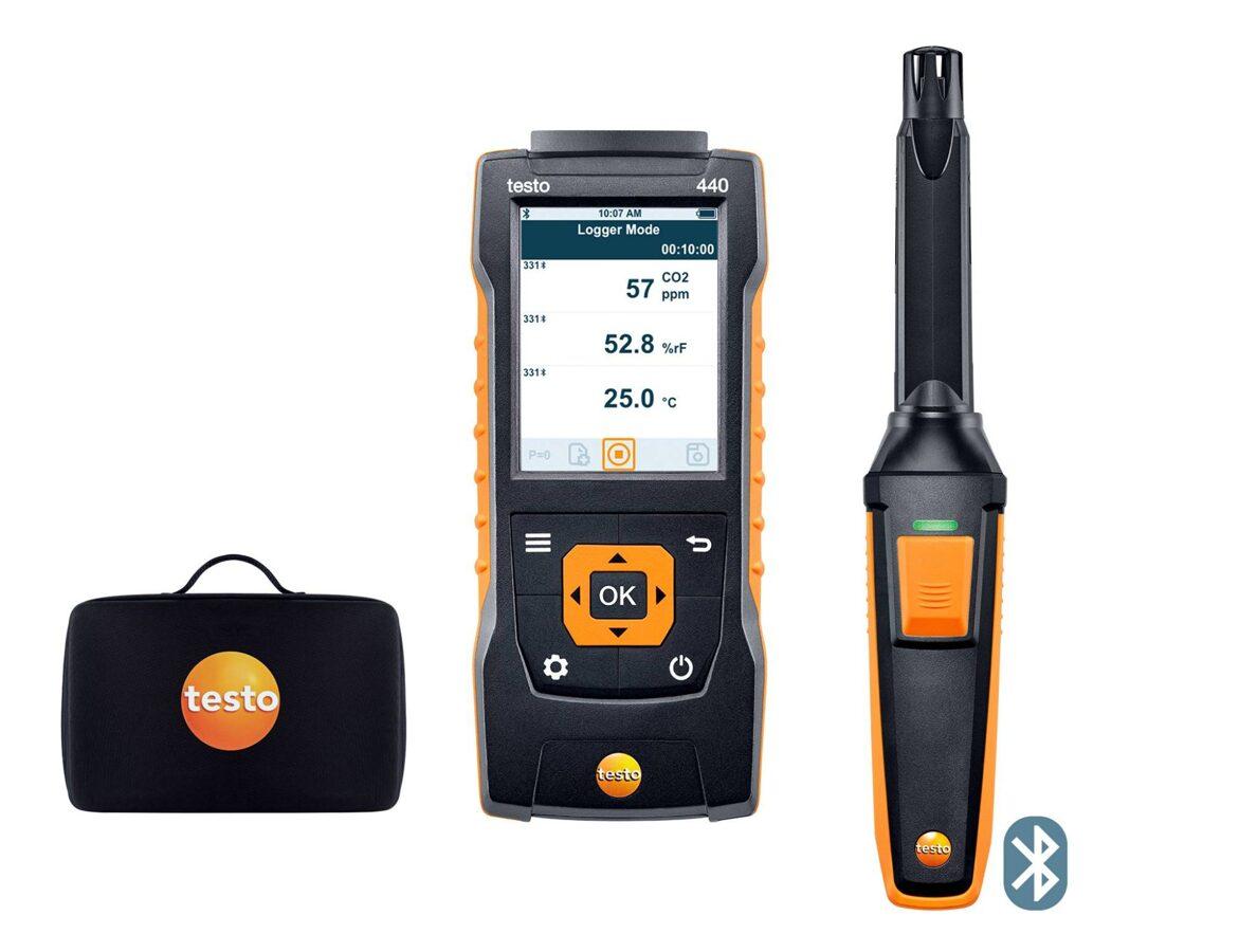 testo 440 CO₂ komplekts ar Bluetooth®