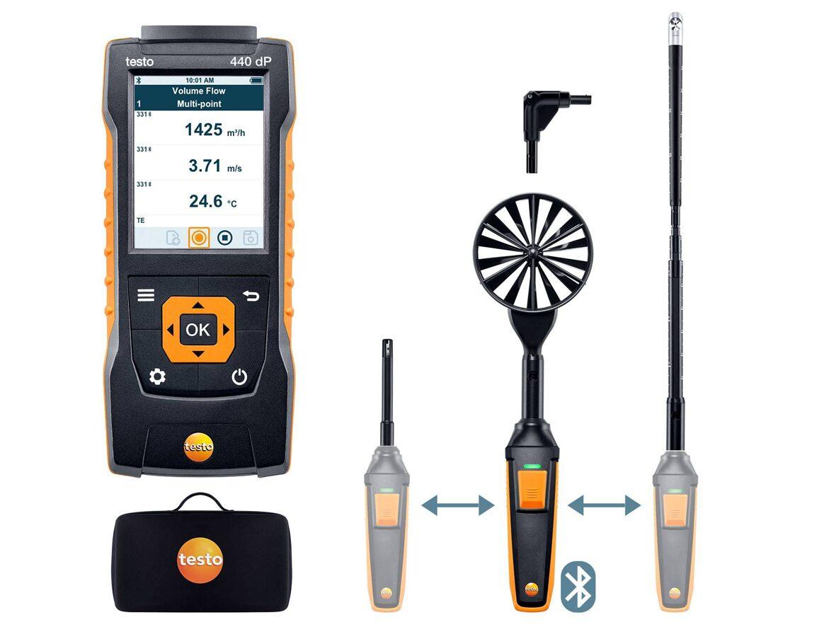 testo 440 delta P Air Flow ComboKit 2 ar Bluetooth® 0563 4410