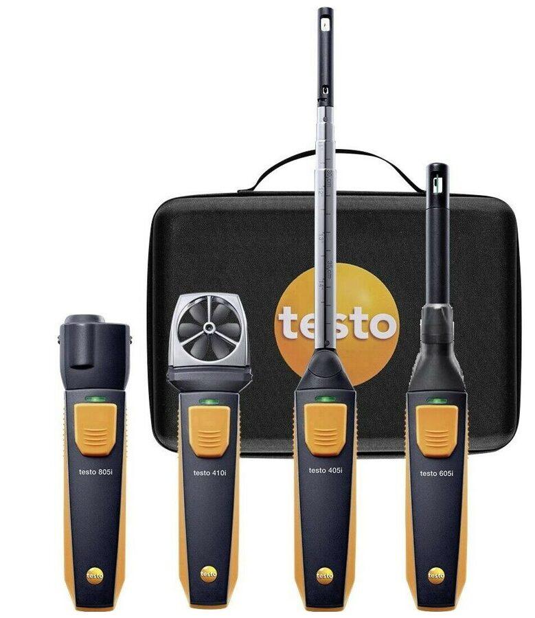 Testo Smart Probes ventilācijas un kondic. iekārtu komplekts 0563 0003 10