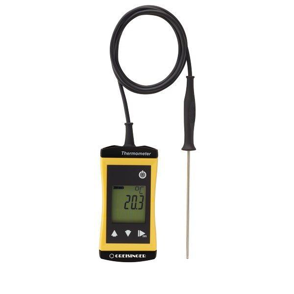 Greisinger G 1730 ieduramais termometrs ar ieduramu, tievu sensoru vadā  Ø0.3 mm