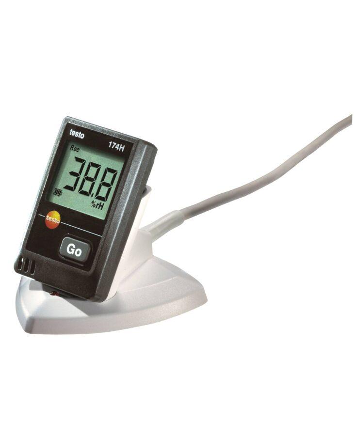0572 0566 testo 174H SET temperatūras un mitruma logers ar nolasītāju