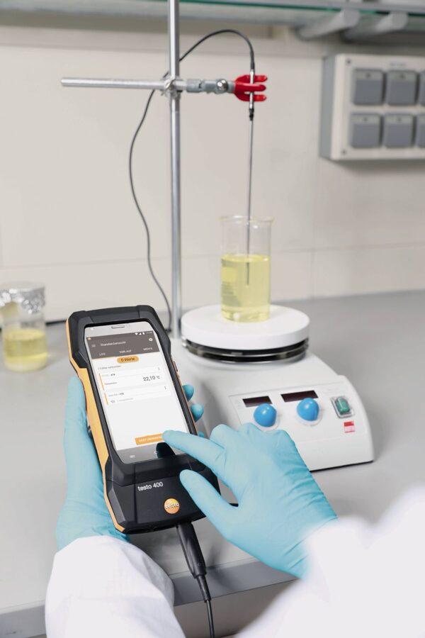 Pt100 digitāls temperatūras sensors ar stikla pārklājumu laboratorijām 0618 7072
