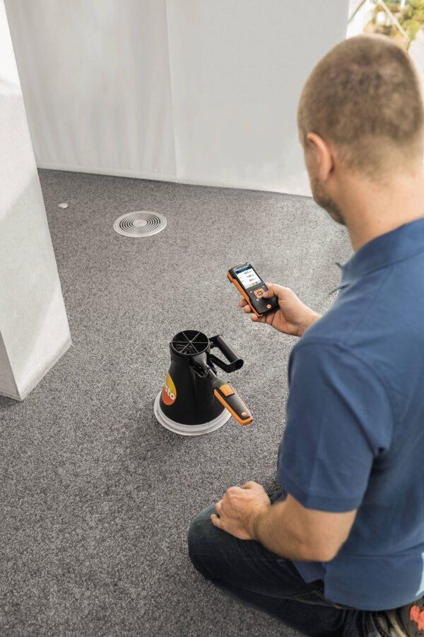 Spārniņu zonde (Ø 100 mm, digitāla) - ar Bluetooth® un temperatūras sensoru 0635 9431