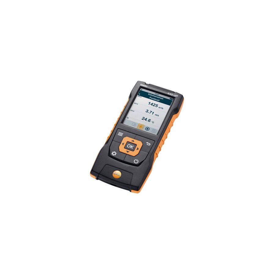 testo 440 dP multiparametru mērītājs ar diferenciālā spiediena mērīšanu 0560 4402