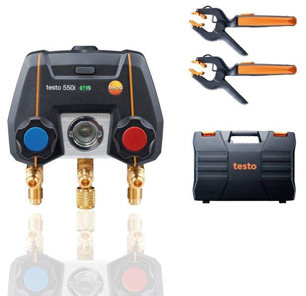 Testo 550i Bluetooth digitālā manifolda komplekts 0564 3550
