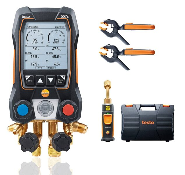Testo 557s Bluetooth manifolda Smart komplekts 0564 5571