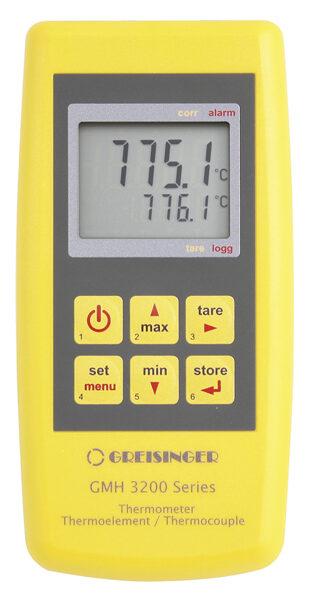 Greisinger GMH 3231 K,J,T,N,S,E,B-tipa termopāra termometrs ar 2 sensoru pieslēgvietām