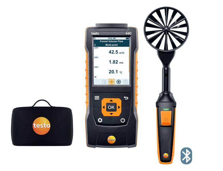 testo 440 100 mm spārniņu zondes komplekts ar Bluetooth® 0563 4403
