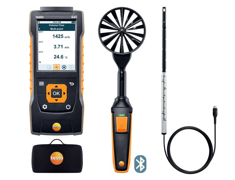 testo 440 Air Flow ComboKit 1 ar Bluetooth® 0563 4406
