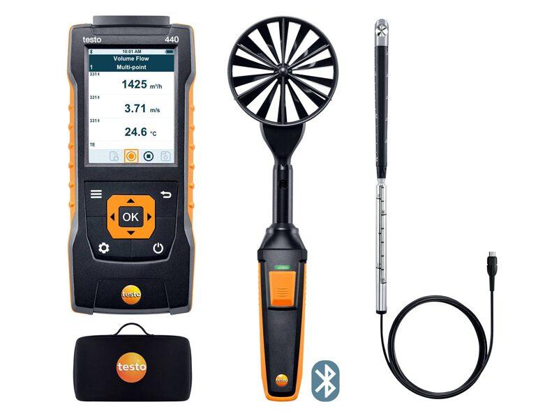 testo 440 Air Flow ComboKit 2 ar Bluetooth® 0563 4407