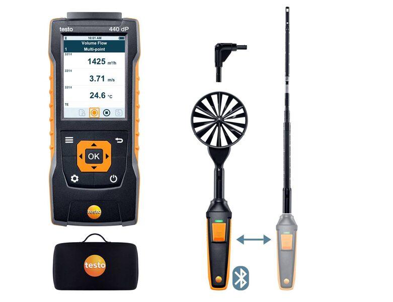 testo 440 delta P Air Flow ComboKit 1 ar Bluetooth® 0563 4409